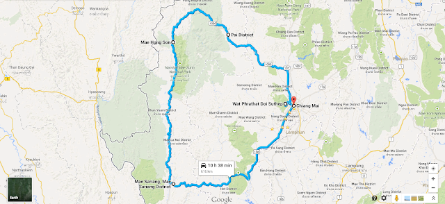 mae hong son loop mapa