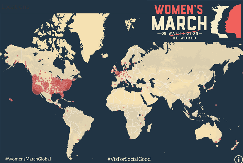 Women's march around the world