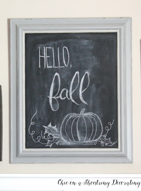 Fall Farmhouse Decor Chalkboard Chic on a Shoestring Decorating Blog