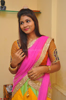 Lucky Sree in dasling Pink Saree and Orange Choli DSC 0334 1600x1063.JPG