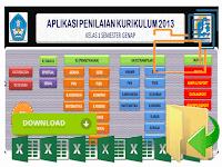 Aplikasi Raport Kurikulum 2013 Kelas 1 SD Format Excel