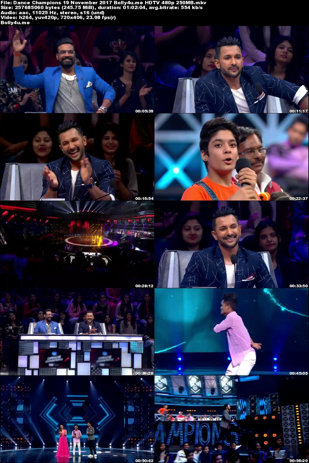 Dance Champions HDTV 480p 250MB 19 November 2017 Download