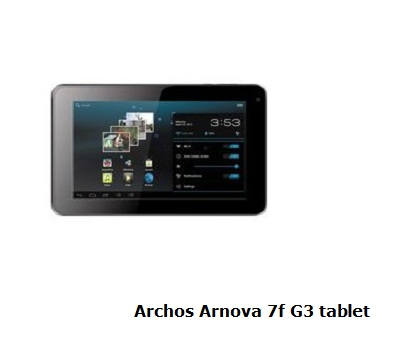 Archos Arnova 7f G3 tablet review