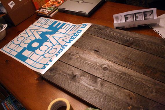& Remodelaholic | Rustic Vinyl Wall Decal Art Tutorial