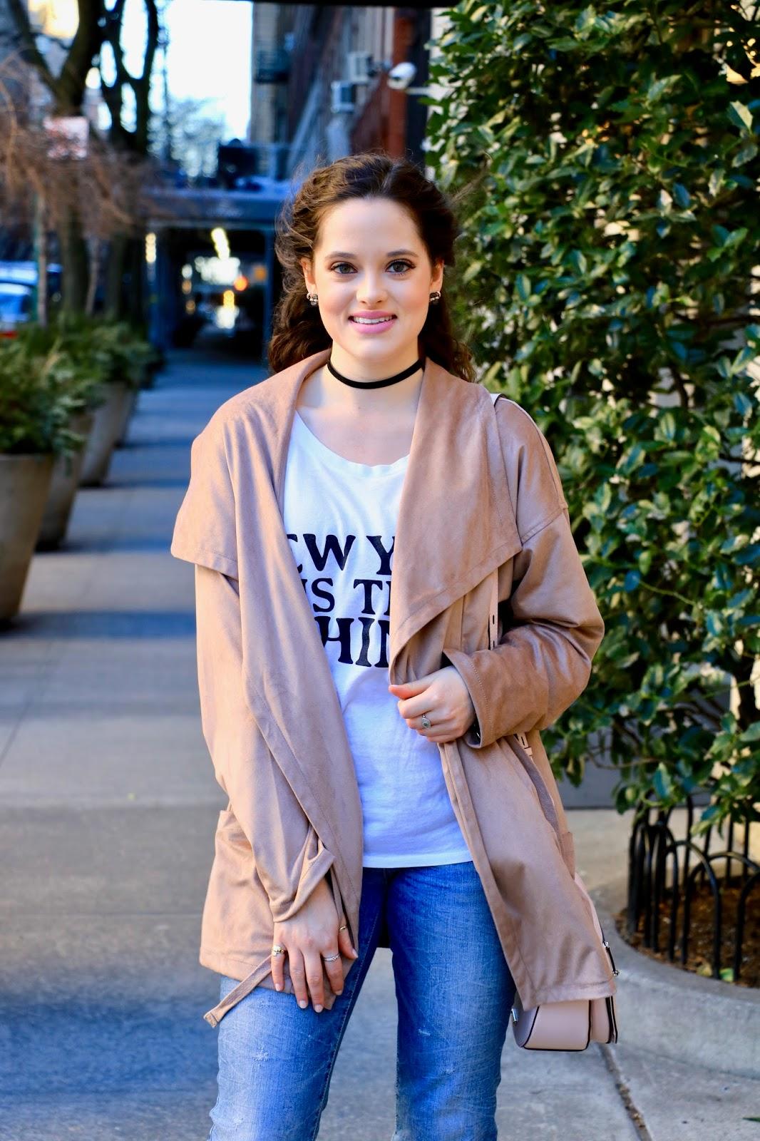 trench coat fashion blogger
