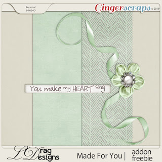 Creative Team for LDrag Designs -    Made for You and Coordinating Freebie and A Year of Blessings, February  2019 Freebie and Heart Attack Templates by Miss Fish