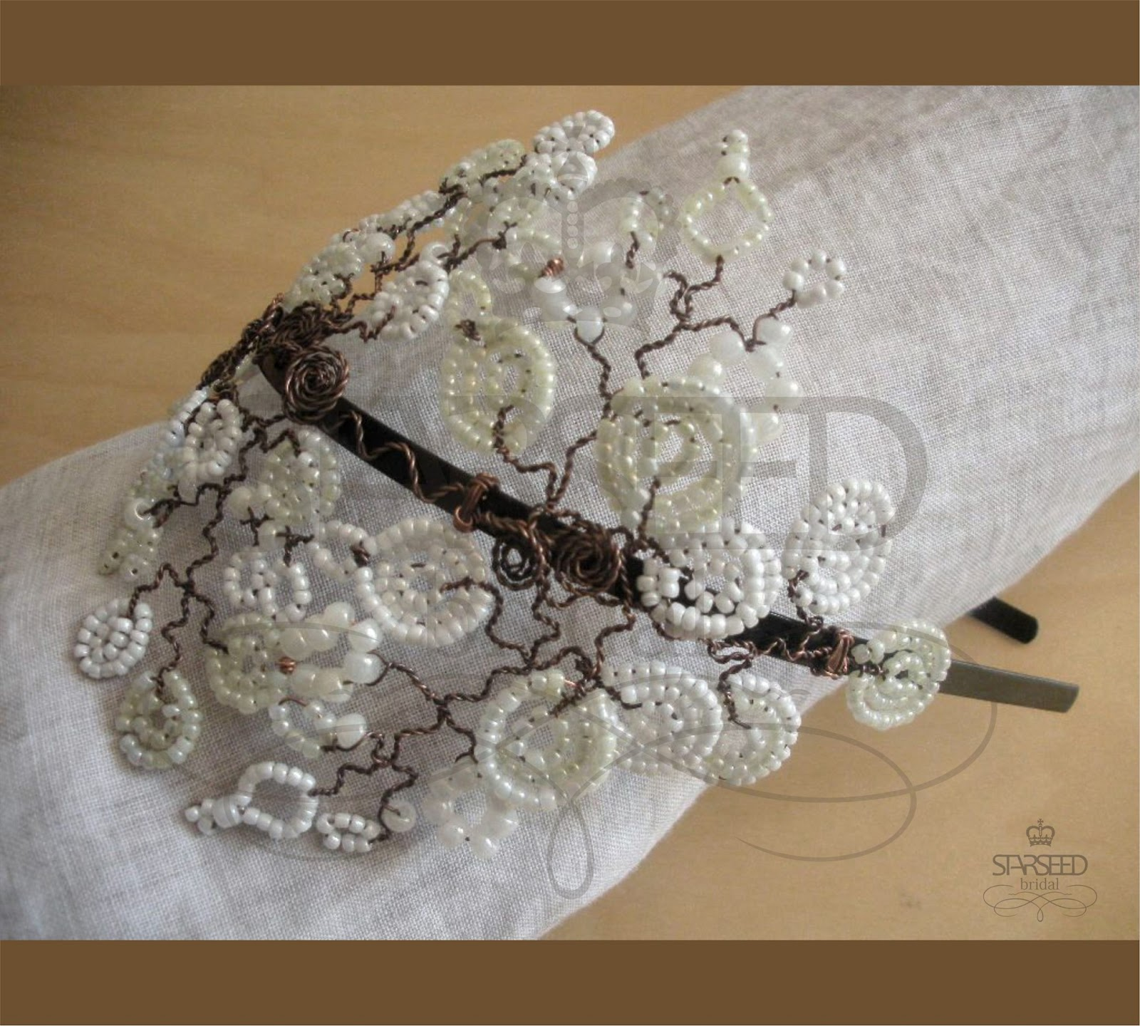 "starseed handmade jewelry: ""bacchus"" line of bridal hair"