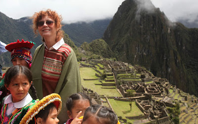 Susan Sarandon, Machu Picchu Hollywood, celebrities Machu Picchu