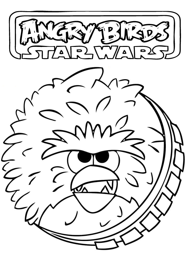 Angry bird star wars coloring pages - photo#38