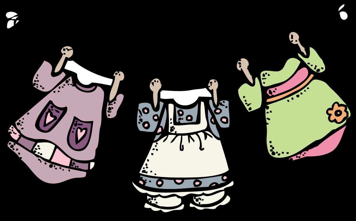 Clothes Line Clip Art ~ Melonheadz laundry blech