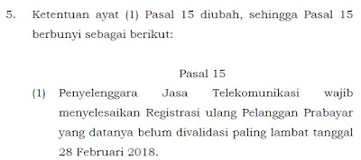 Batas Akhir Registrasi Ulang Kartu SIM Prabaya