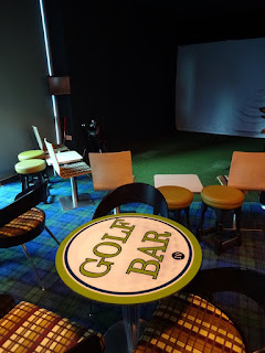 Indoor Golf simulator at Golf Bar Leeds