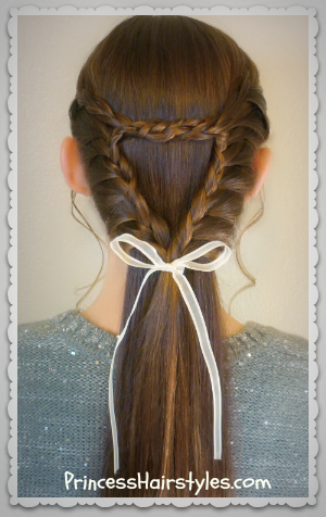 Triangle or heart braid tutorial