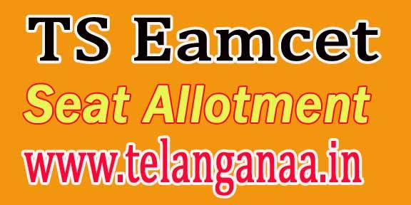 Telangana TS Eamcet 3 Seat Allotment Order 2016