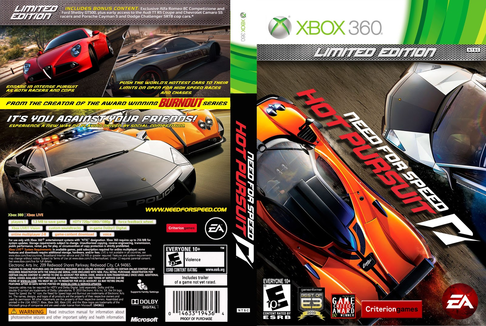 Apps And Software Capa Need For Speed Hot Pursuit Limited Edition