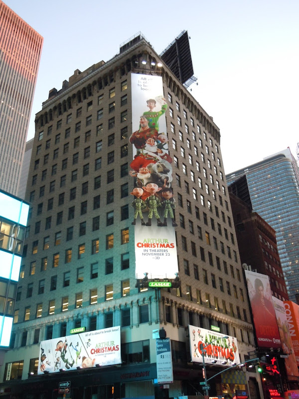 Arthur Christmas billboards NYC