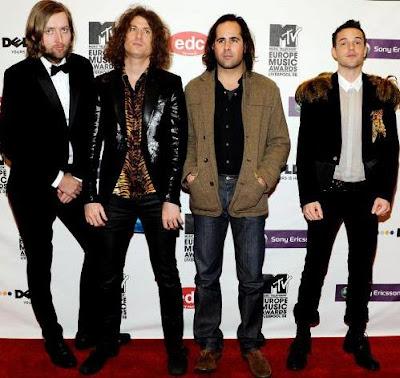Foto del grupo The Killers en la alfombra roja