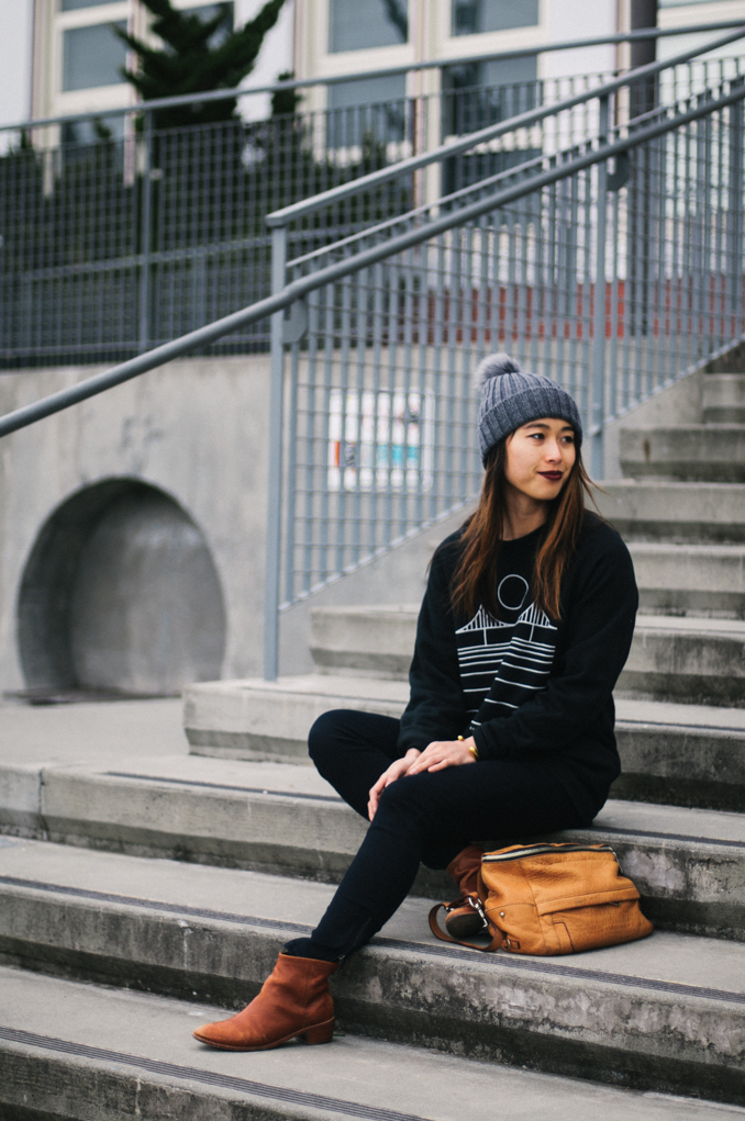 culk san francisco crew neck sweatshirt winter outfit