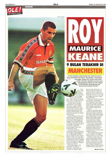 ROY MAURICE KEANE MANCHESTER UNITED