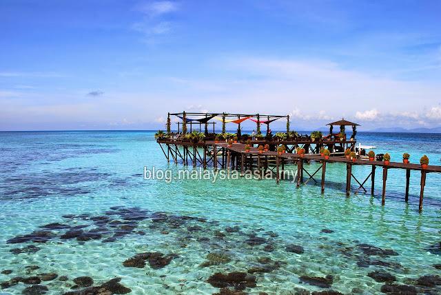 Sun deck at Kapalai Island