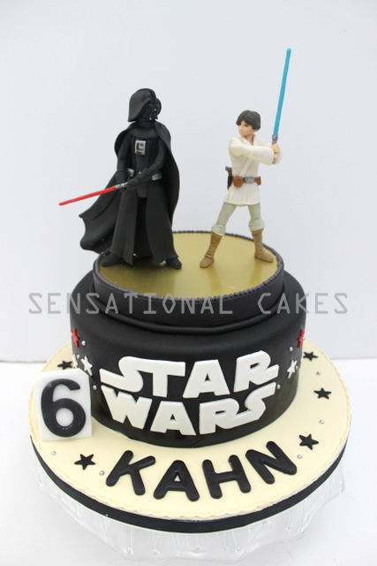 The Sensational Cakes darth vader vs Luke skywalker cake singapore