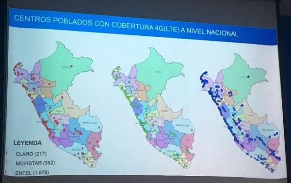 OSIPTEL - COBERTURA 4G EN PERÚ 2016