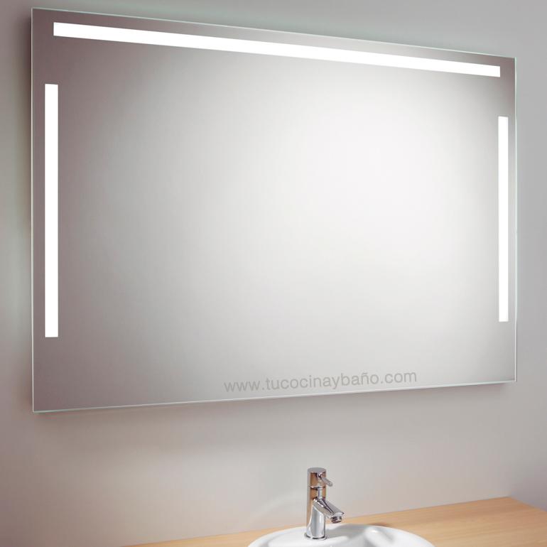 espejo baño LED maquillaje profesional