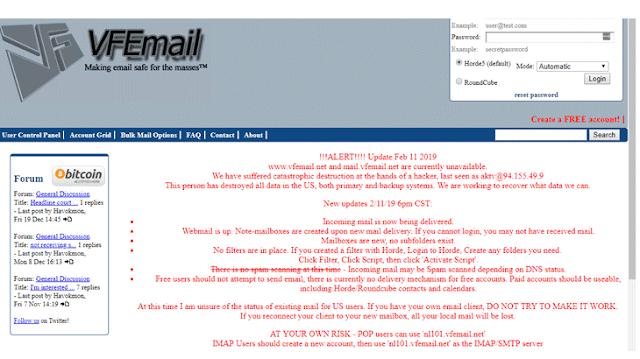 Hacker tấn công phát hoại toàn bộ dữ liệu của Dịch vụ bảo mật VFEmail