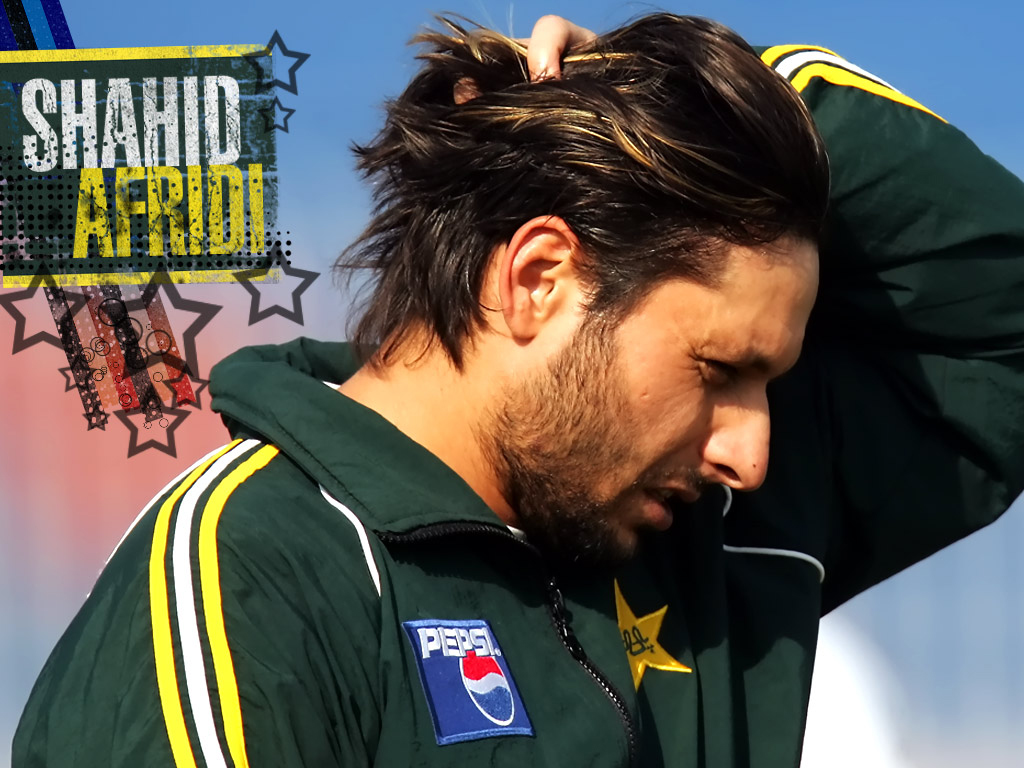Top Cricket Players: Shahid Afridi Wallpapers