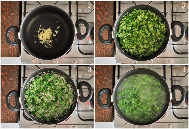 arroz brócolis passo a passo