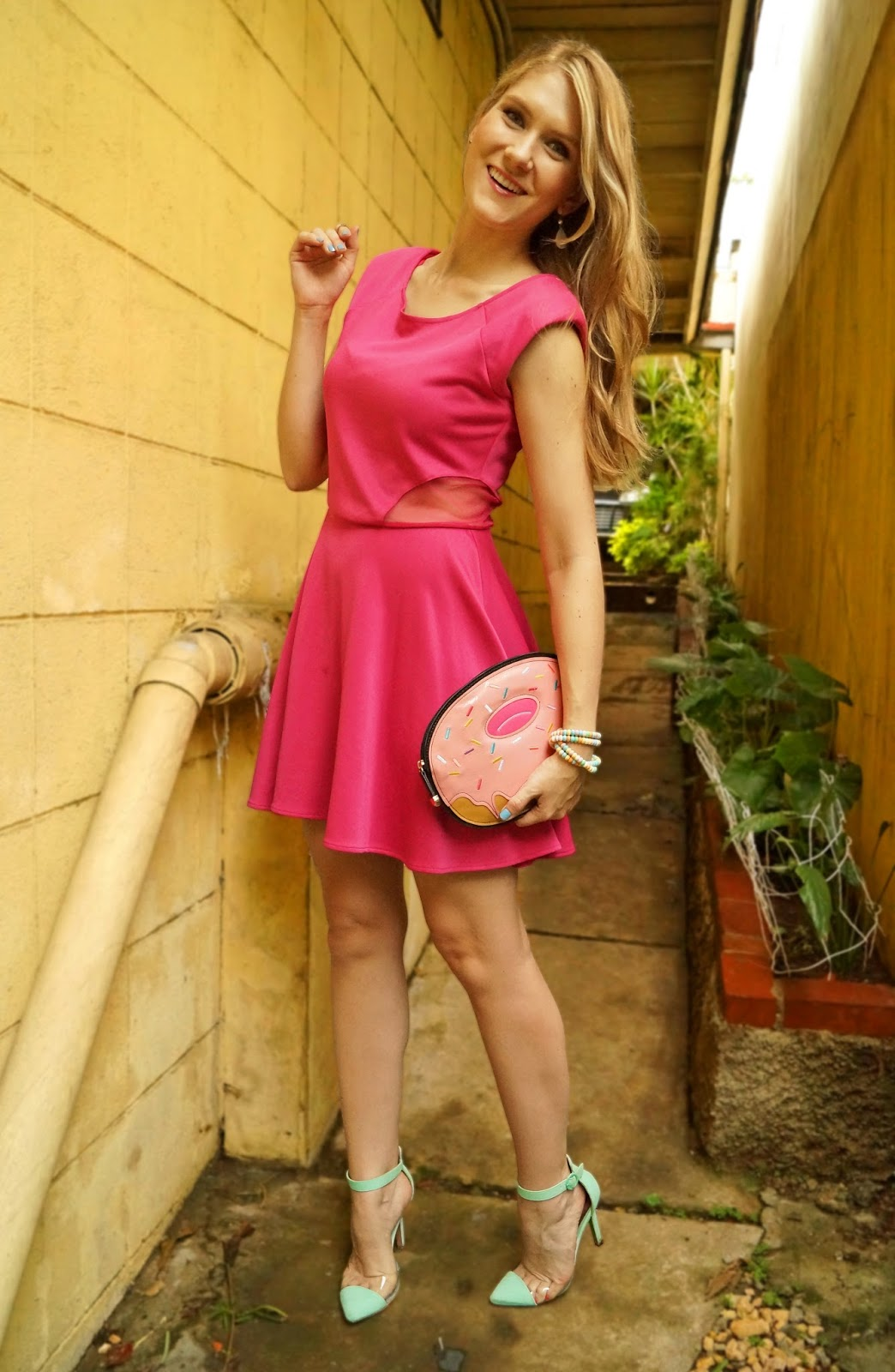 Pretty Pink dress outfit for Spring!