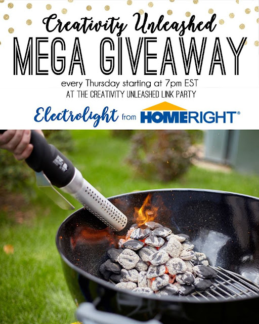 HomeRigth Electrolight Fire Starter Giveaway and Creativity Unleashed Link Party, MyLove2Create