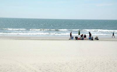 White Sandy Beaches of North Wildwood New Jersey