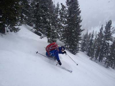 CMS Guide Mike Soucy enjoying the RS on Vail Pass, CO