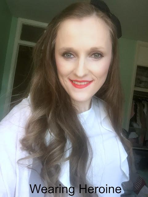 wearing maybelline superstay lipstick in heroine