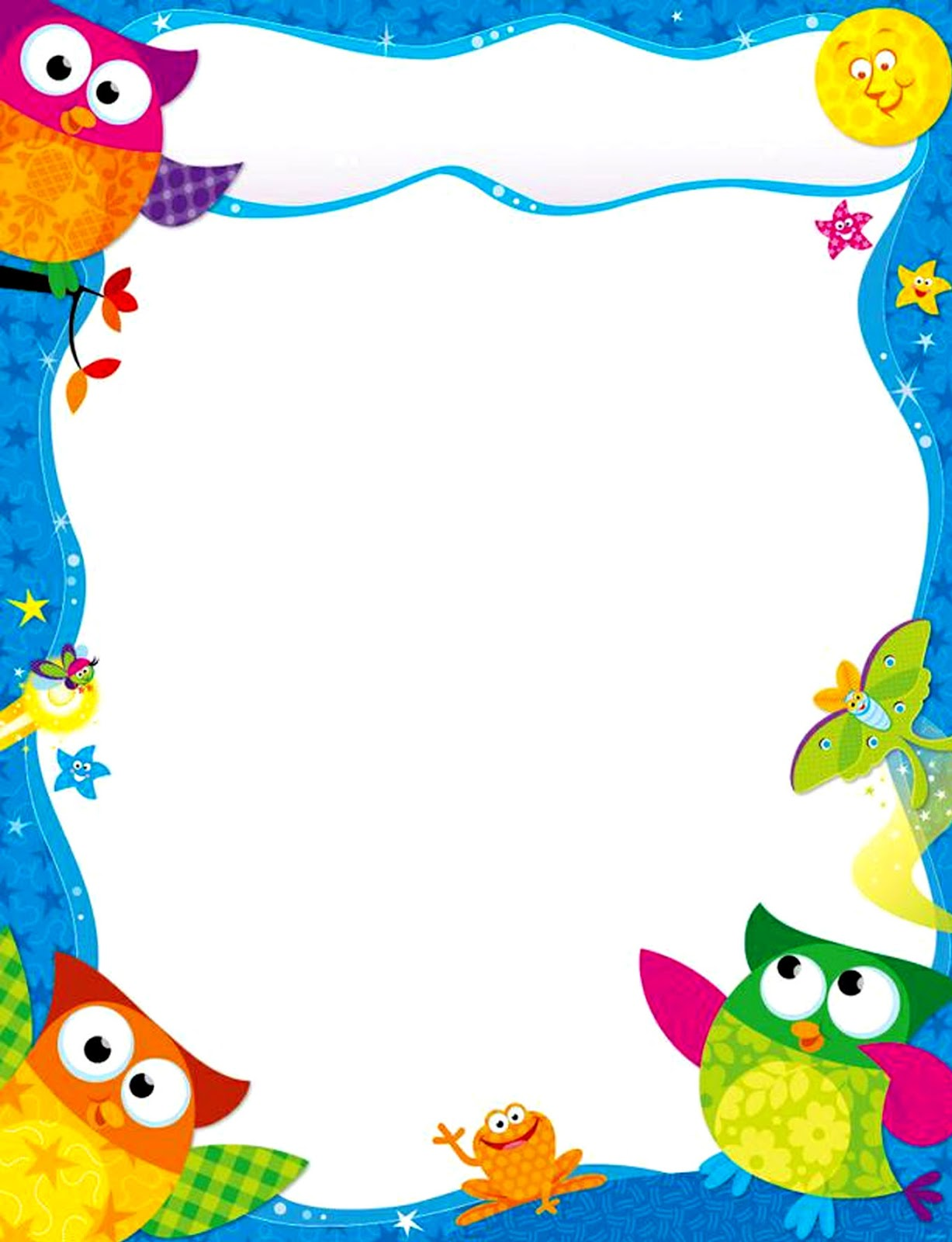 Bordes decorativos bordes decorativos de hojas de b hos - Plantillas decorativas infantiles ...
