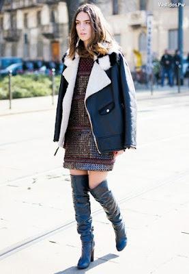 Vestidos con botas altas