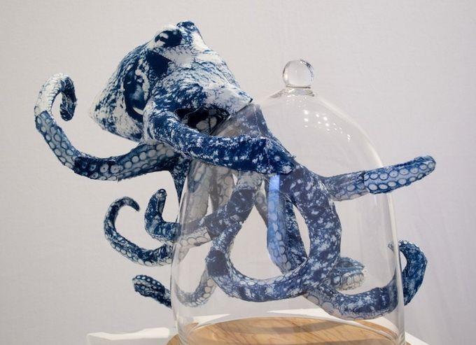 Esculturas de animales de cartón