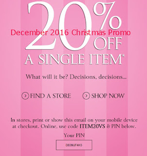 Victoria's Secret coupons december 2016