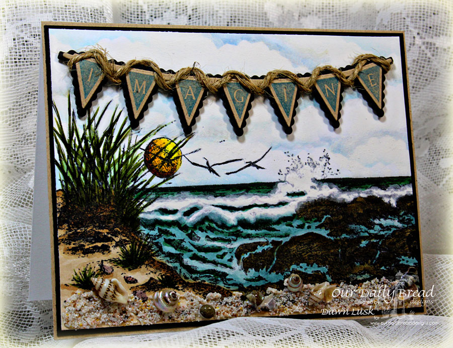 Stamps - Our Daily Bread Designs The Mighty Sea, Pennant Row, ODBD Custom Pennant Row Die