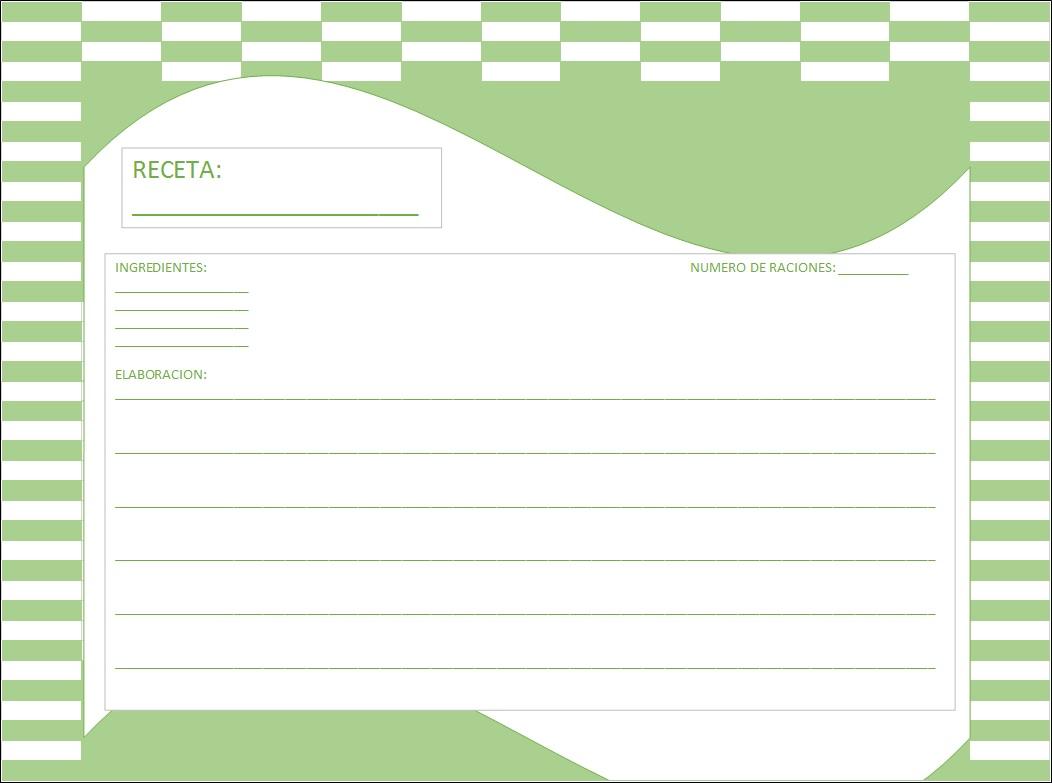Recetas para imprimir interesting printable recipe card for Plantillas de cocina