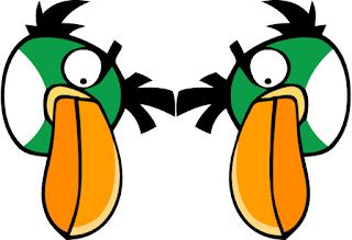Guirnalda de Angry Birds para Imprimir Gratis.