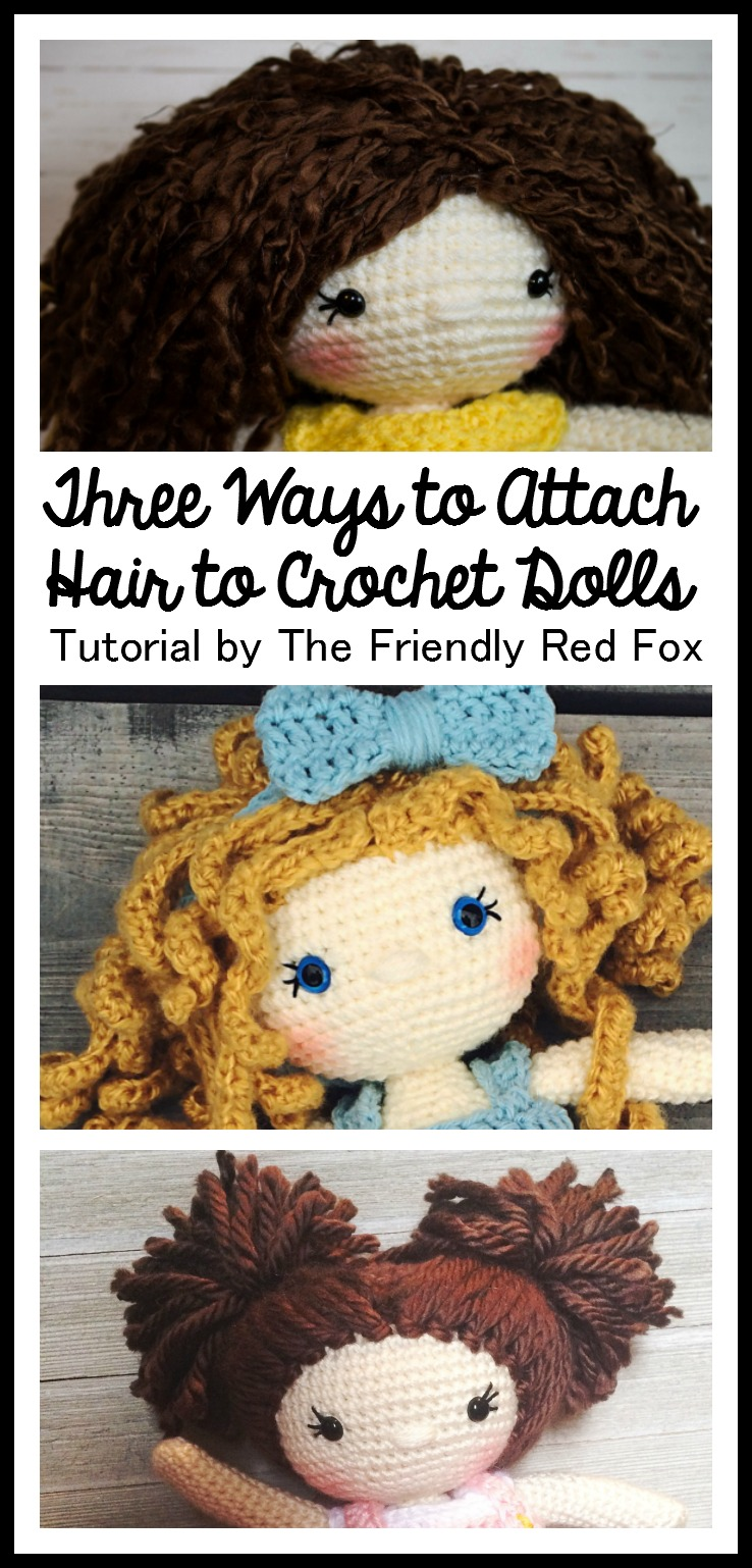Gift presents for kids: yarn doll hair tutorial crafts ideas.