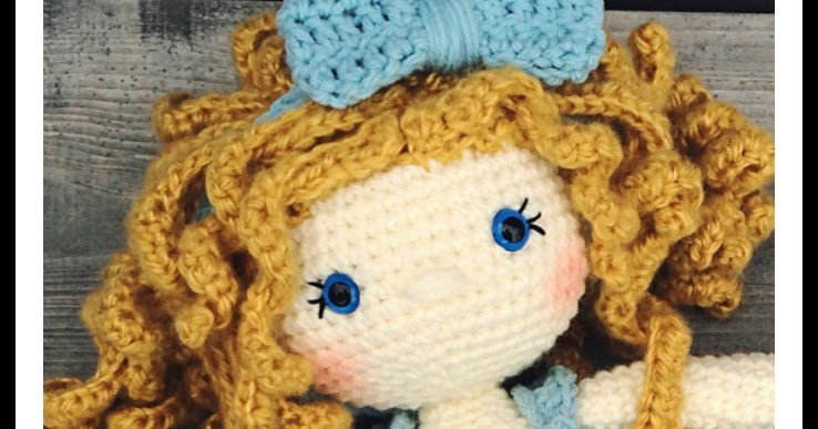 How To Attach Hair To A Crochet Doll The Friendly Red Fox