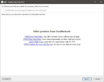 Screenshot Partition Bad Disk 3.4.1 Full Version