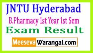 JNTU Hyderabad B.Pharmacy 1st Year 1st Sem (R16) Regular 2016 Exam Results