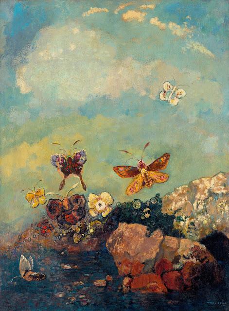 オディロン・ルドン、不気味な「目」を描いた画家の作品、10枚【a】 蝶