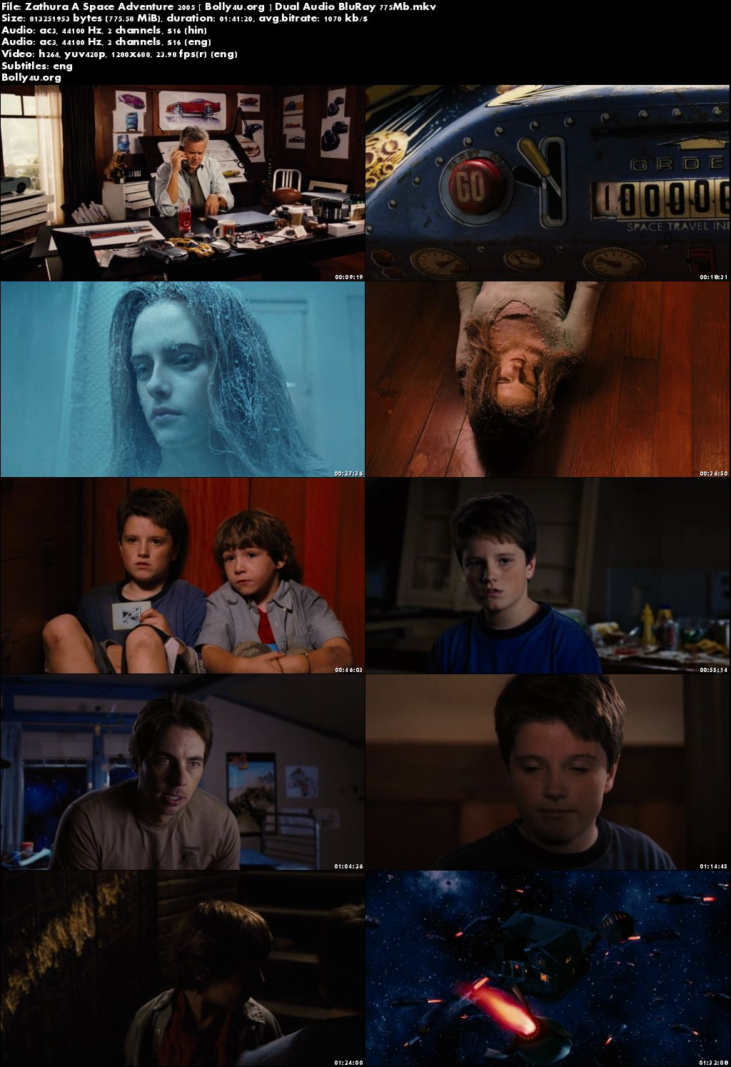 Zathura A Space Adventure 2005 BluRay 300MB Hindi Dual Audio 480p Download