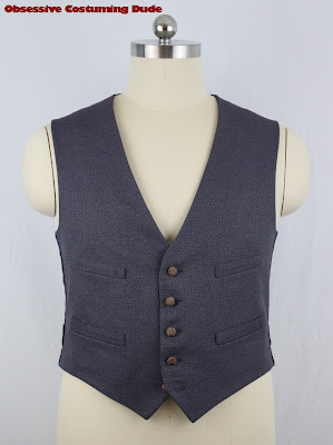 """11th Doctor """"scales"""" waistcoat sewing tutorial"""