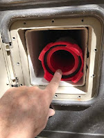 sewer hose storage - Solved with hose inside